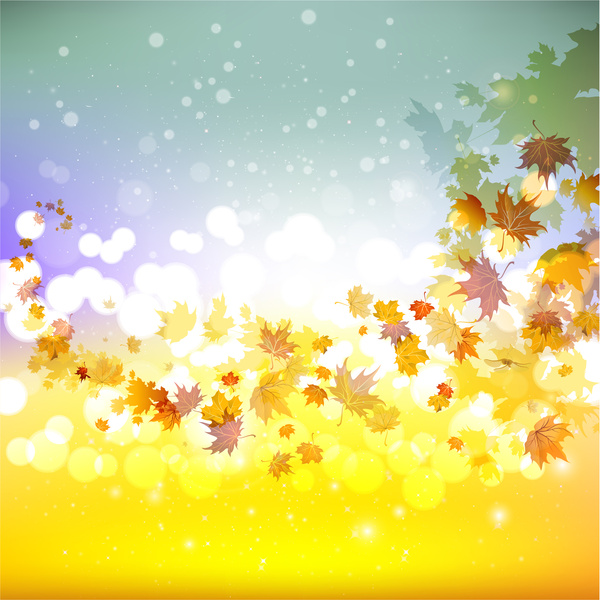 Fall Wallpaper Images Free: Maple Leaf Fall Background Free Vector In Adobe