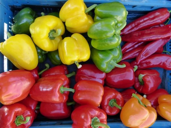 market paprika vegetables