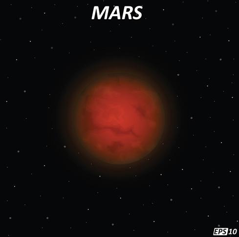 mars art background vector