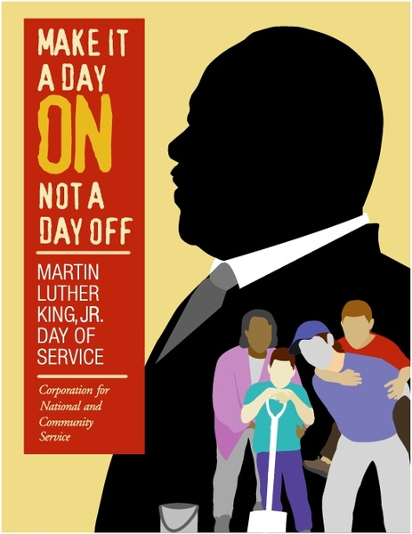 Martin Luther King Jr Day Of Service Free Vector In Encapsulated
