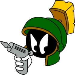Marvin Martian Angry with gun