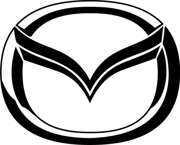 mazda logo2 free vector in adobe illustrator ai ( .ai ) vector