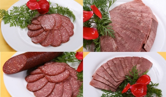 meat raw salami intestinal highdefinition picture