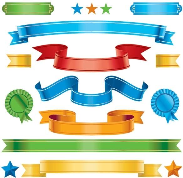 medal ribbon vector
