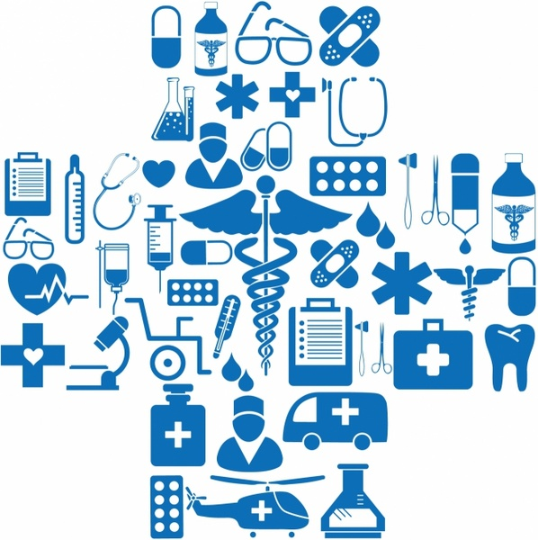 medical icons in cross shape free vector in adobe illustrator ai rh all free download com vector medical logo vector medical logo