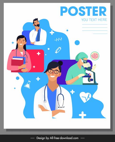 medical poster healthcare job elements sketch