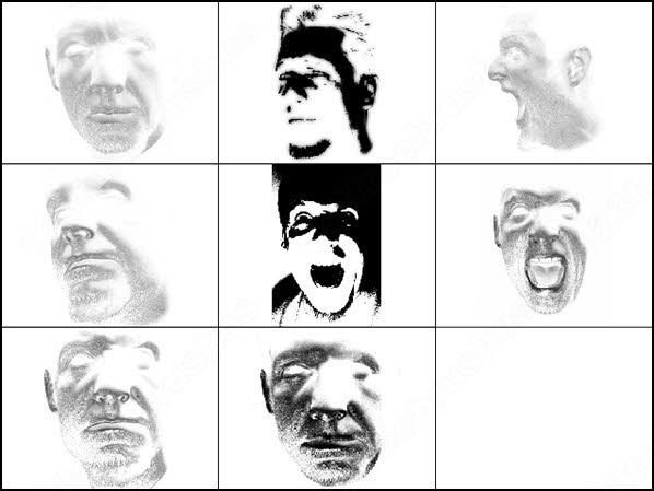 men face brush