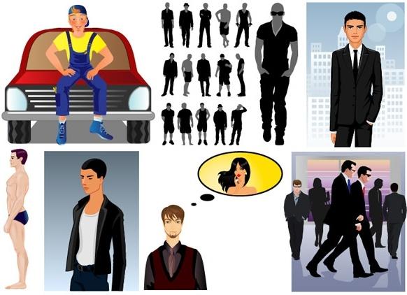men theme vector