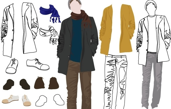 b8c5ec2e Mens Fashion Free vector in Adobe Illustrator ai ( .ai ) vector ...