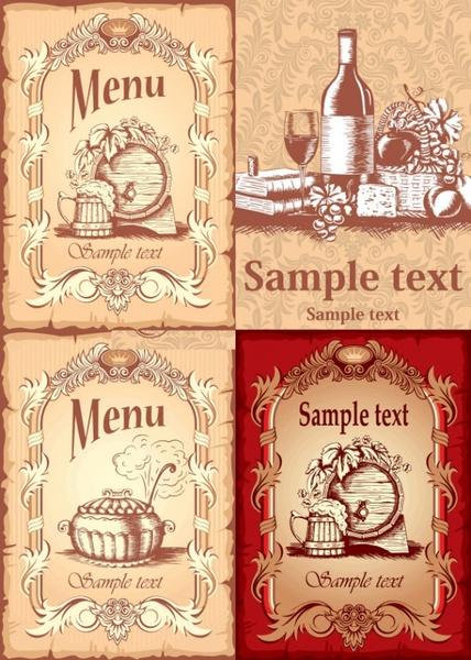 menu cover vector