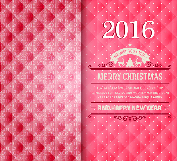 merry christmas and happy new year 2016 card