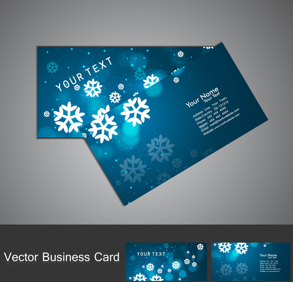 Merry christmas business card set blue colorful vector illustration merry christmas business card set blue colorful vector illustration colourmoves