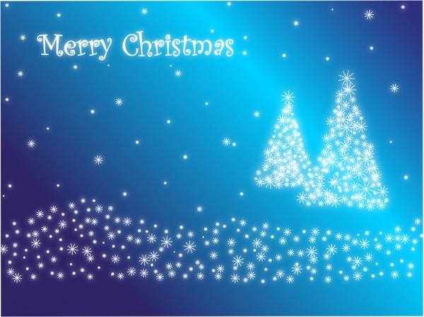 merry christmas in blue