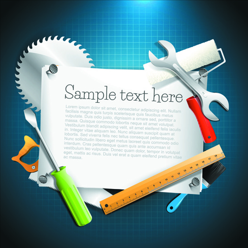 message board and carpentry tools backgrounds