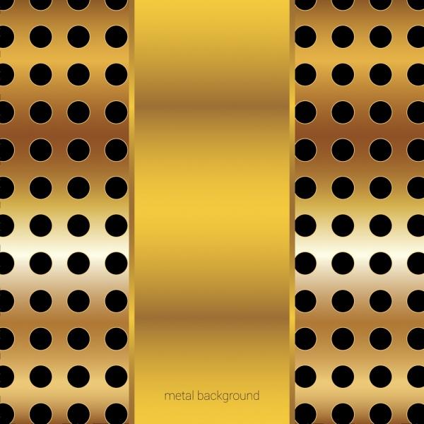 metal background golden shiny holes decoration