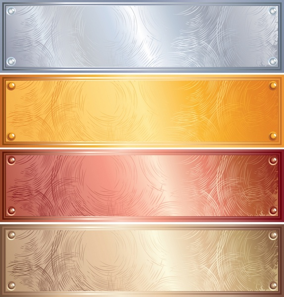 abstract background sets colored horizontal metallic decor