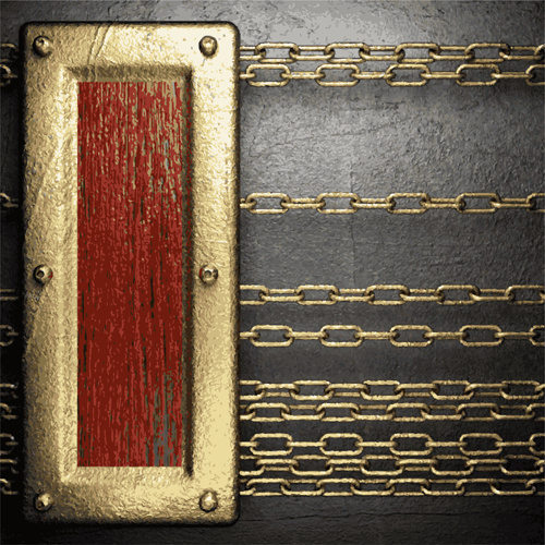 metal frame and iron chain background