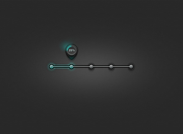 metal progress bar psd layered