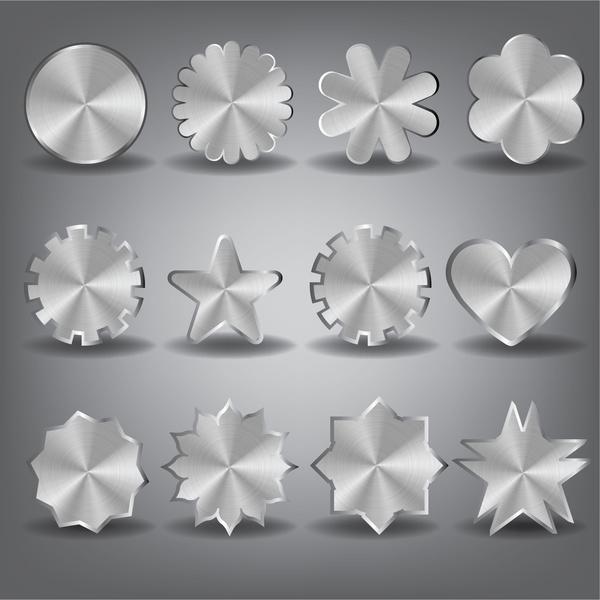 metal shape design element set