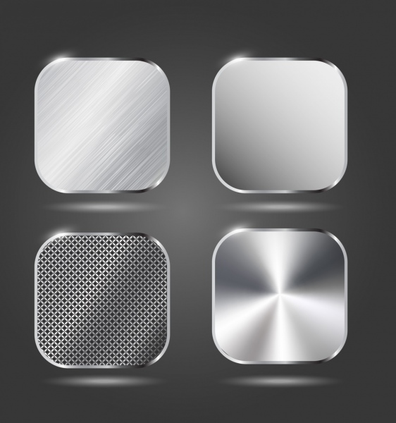 metal surface icons various shiny stainless material design free