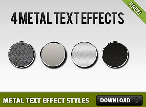 Metal Text Effect Layer Styles