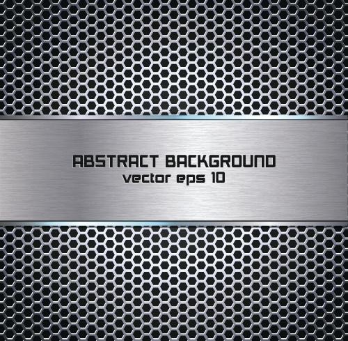 metallic texture art background vector