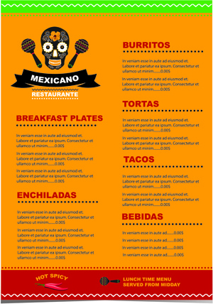 mexican restaurant menu creative vector free vector in encapsulated