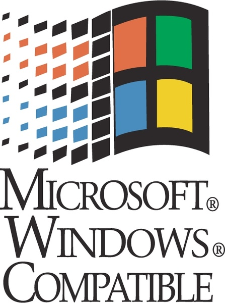 microsoft windows compatible free vector in encapsulated