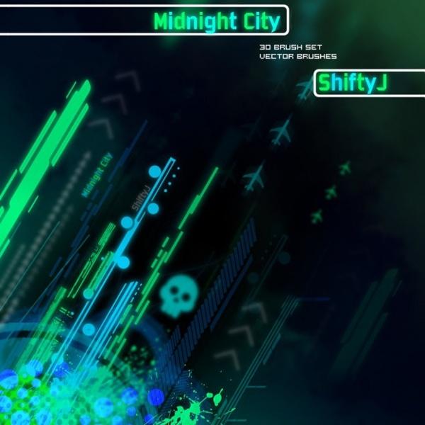 Midnight City Brush Pack