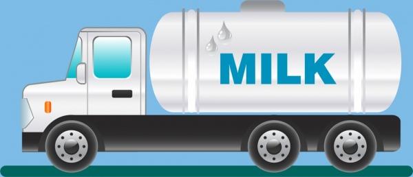milk supply chain banner white truck ornament