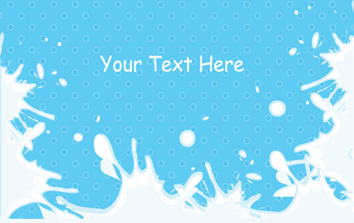 milk with blue backgrounds vector