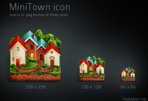 Mini Town Icons icons pack