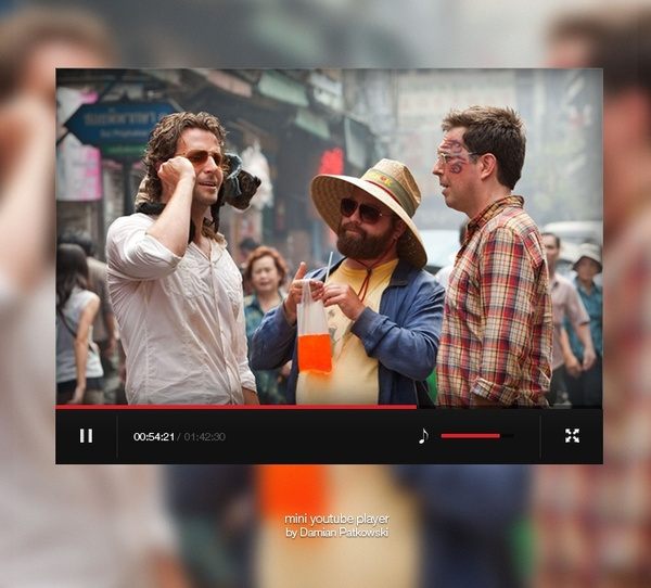 Mini Youtube Player Free Psd In Photoshop Psd Psd File Format