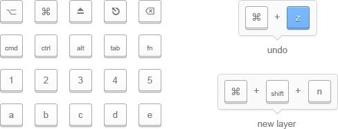 Minimal Keyboard Keys