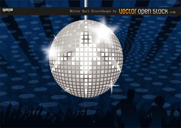 Mirror Ball Discotheque Free Vector In Adobe Illustrator