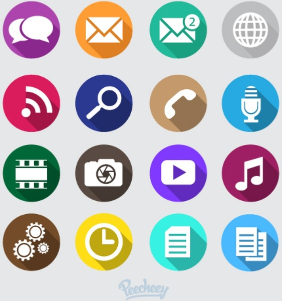 Mobile Phone Icons Free Vector In Adobe Illustrator Ai