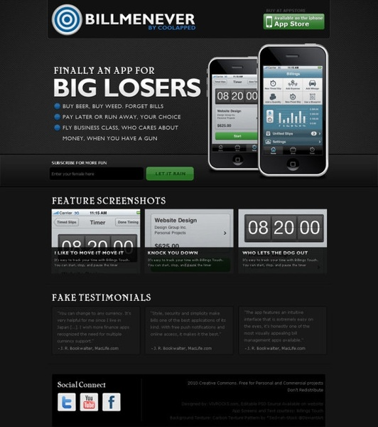 mobile site template 03 psd layered