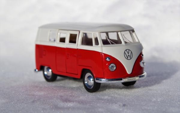 closeup of tiny toy car