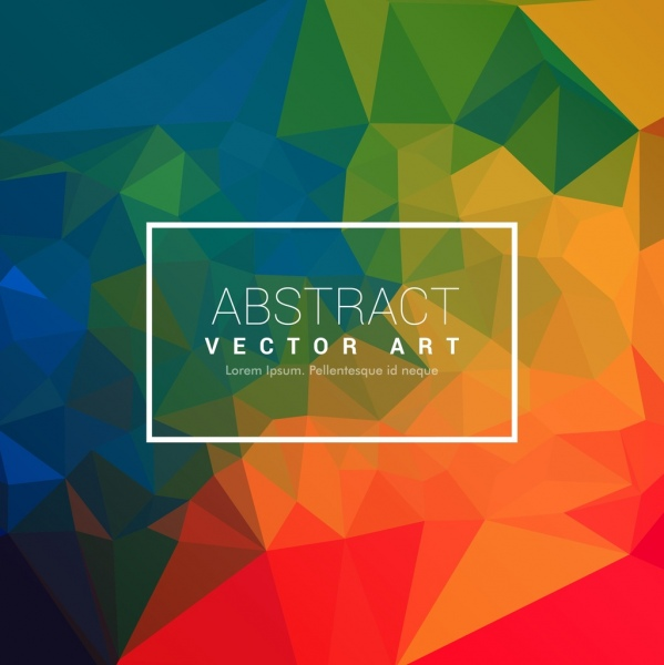 modern abstract background colorful low polygonal ornamental