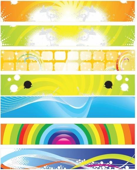 Modern Abstract Banner Vector Set