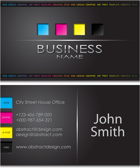 Modern business cards front and back template vector free vector in modern business cards front and back template vector colourmoves
