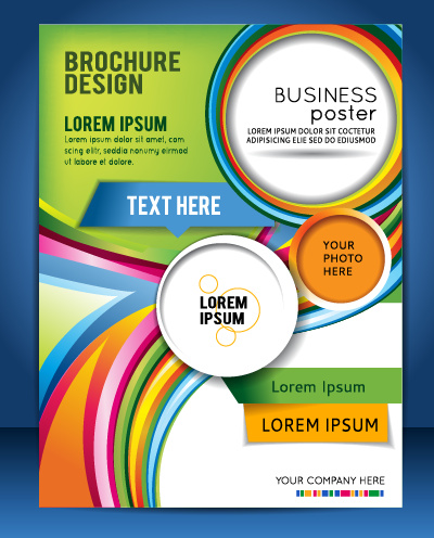 modern business flyer and cover brochure vector