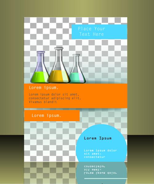 modern business flyer cover illustration vector