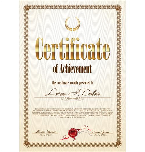 modern certificate creative template vector