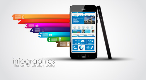 modern devices infographics vector