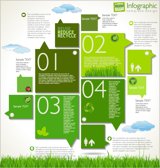 infographics cycle template free vector download  22 367