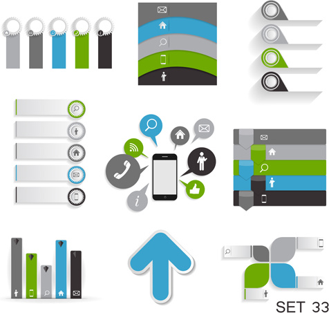 modern infographics elements illustration vector
