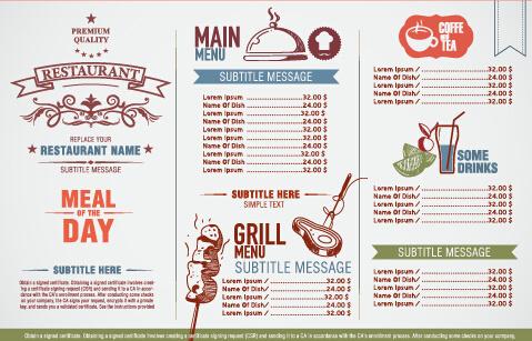 modern restaurant menu list design vectors free vector in