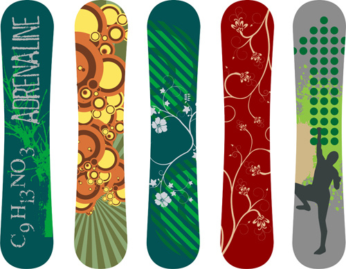 Modern Snowboard Vector Template Design Free Vector In Encapsulated