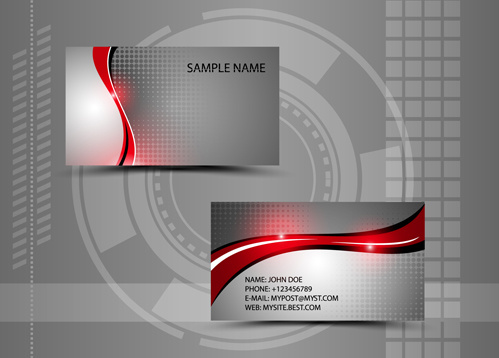 Modern Style Abstract Business Cards Vector Free Vector In Adobe